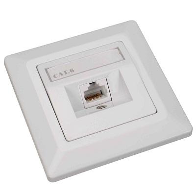 Datová zásuvka Solarix SX9-1-6-STP-WH Datová zásuvka, CAT6, STP, 1x RJ45, pod omítku, bílá 23100098