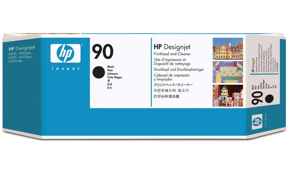 Tisková hlava HP 90 černá Tisková hlava, originální, pro HP DesignJet 4000, 4500, černá C5054A