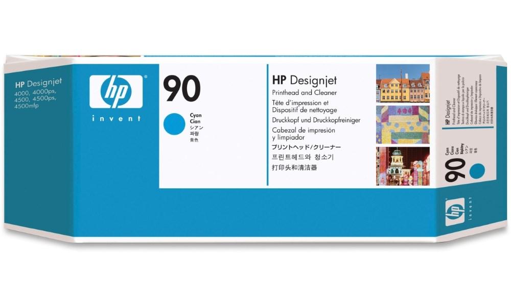 Tisková hlava HP 90 azurová Tisková hlava, originální, pro HP DesignJet 4000, 4500, azurová C5055A