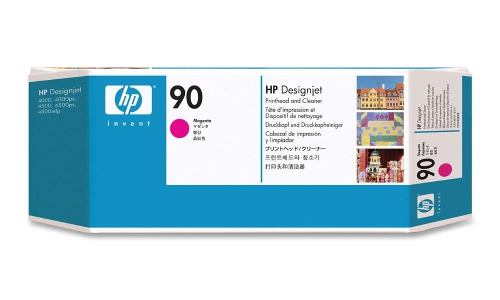 Tisková hlava HP 90 purpurová Tisková hlava, originální, pro HP DesignJet 4000, 4500, purpurová C5056A