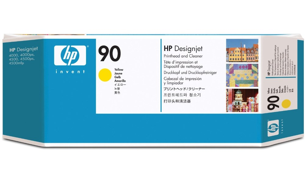 Tisková hlava HP 90 žlutá Tisková hlava, originální, pro HP DesignJet 4000, 4500, žlutá C5057A