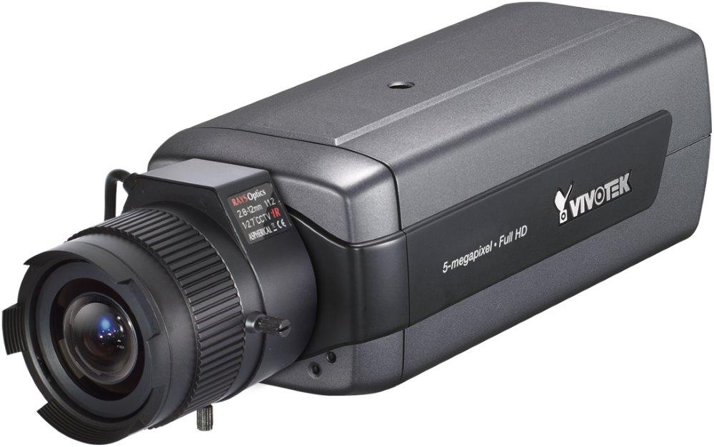 IP kamera VIVOTEK IP8172 IP kamera, MPEG-4/MJPEG/H.264, CMOS, max.2560 x 1920 5 Mpix, až 25 sn/s, DC drive, obj. 2,8 - 12 mm F1.2, IP8172
