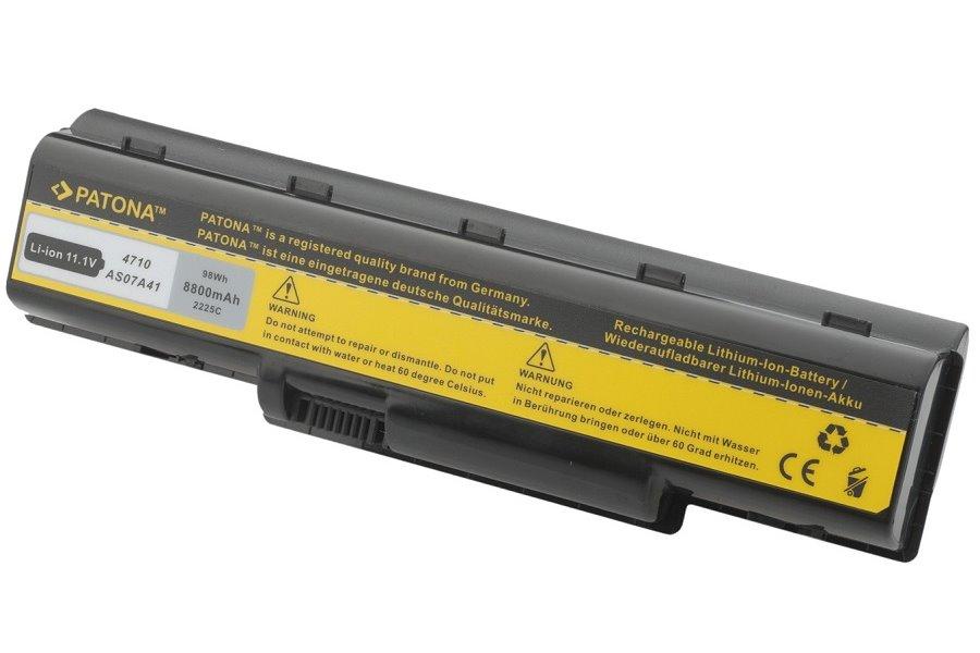 Baterie PATONA pro ACER 8800 mAh Baterie, 8800 mAh, pro notebooky ACER Aspire 4310, 4520, 5735, neoriginální PT2225