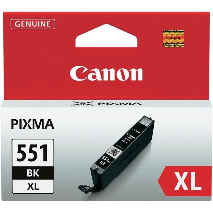 Cartridge inkoustová náplň Canon CLI-551Bk, XL černá 6443B001
