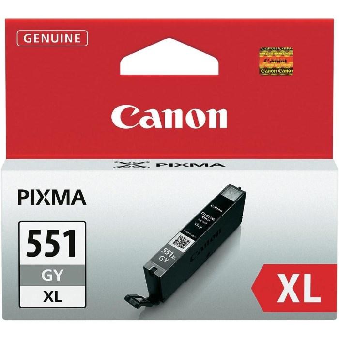 Cartridge inkoustová náplň Canon CLI-551GY, XL šedivá 6447B001