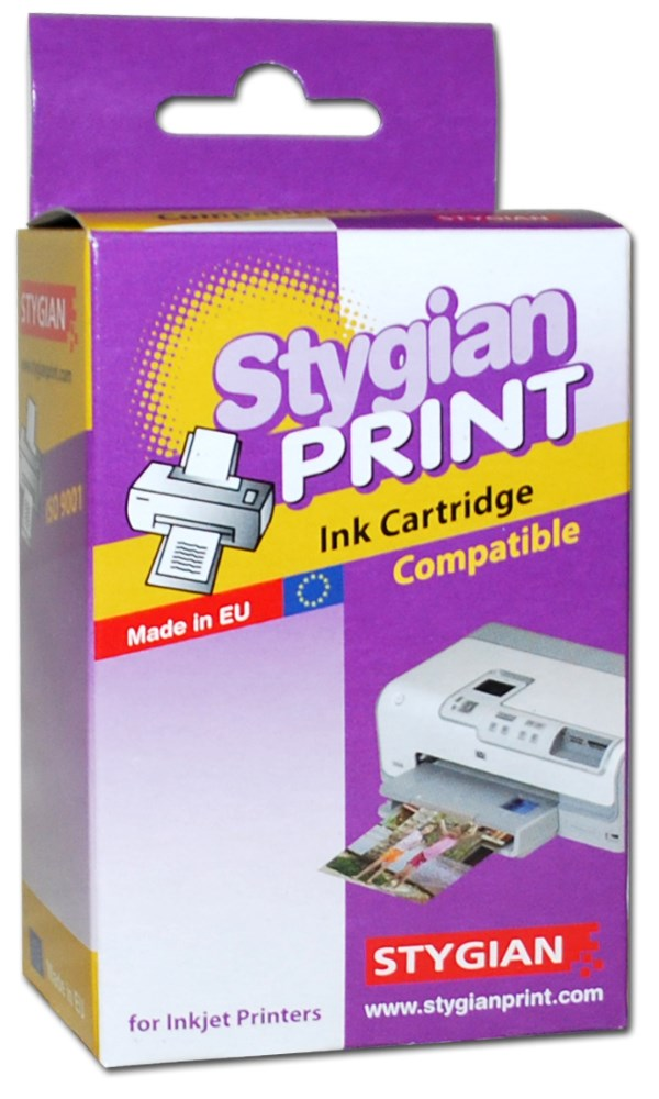 Inkoustová náplň Stygian za HP 10 (C4844A) černá Inkoustová náplň, kompatibilní s HP C4844A, černý, 69ml., s čipem