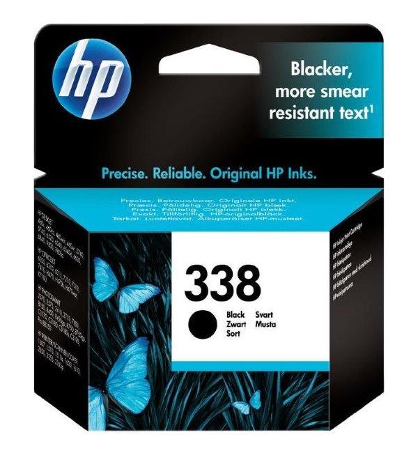 Inkoustová náplň HP 338 černá Inkoustová náplň, originální, pro HP DeskJet 5740, 6520, 6540, 6210, OfficeJet 7210, 7310, 7410, PhotoSmart 2570, 2575, 2610, černá C8765EE