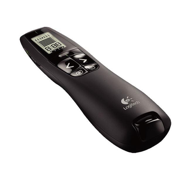 Prezentér Logitech Professional R700 Prezentér, bezdrátový, 2,4 GHz, LCD, USB, červené laser ukazovátko 910-003507