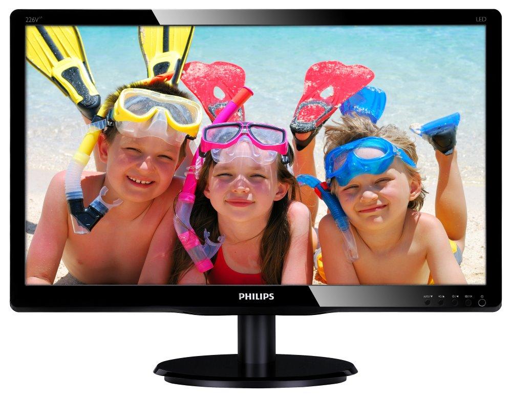 LED monitor PHILIPS 226V4LAB 21,5 LED monitor, 21,5, 16:9 1920x1080, 10.000.000:1, 5ms, D-SUB, DVI, černý 226V4LAB/00