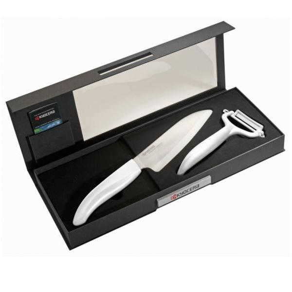Dárkové balení KYOCERA FK-140WH-WH+CP-10NWH Dárkové balení, v černé krabičce, keramické nože FK-140WH-WH+CP-10NWH bílý Color Gift Set-WH
