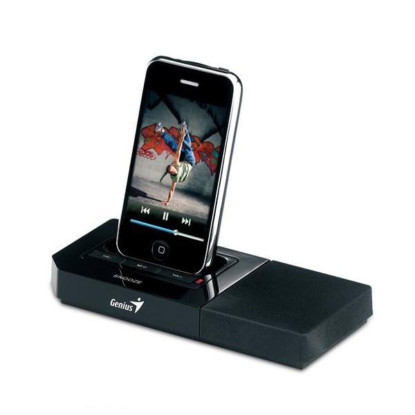 Reproduktory Genius SP-i500 Reproduktory, mono, přenosné, 2 W, iPhone docking repro 31730028101