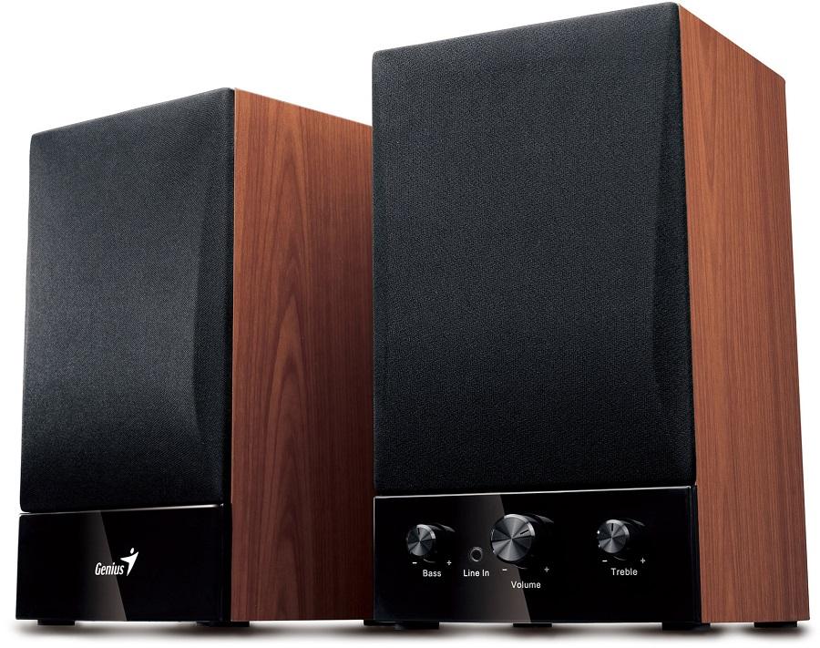 Reproduktory Genius SP-HF1250B Reproduktory, 2.0, 40 W, Dřevěné - POŠKOZENÝ OBAL REPG10285V