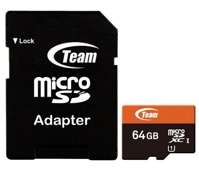 Paměťová karta TEAM Micro SDXC 64 GB Xtreem Paměťová karta, 64GB, microSDXC, UHS-1 + SD adaptér TUSDX64GUHS03