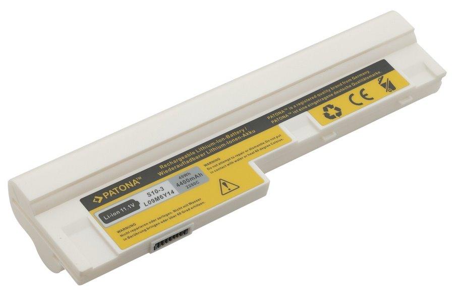 Baterie PATONA pro Lenovo 4400 mAh bílá Baterie, 4400 mAh, pro notebooky Lenovo IdeaPad S10-3, S100, S205, U160, U165, neoriginální, bílá PT2280