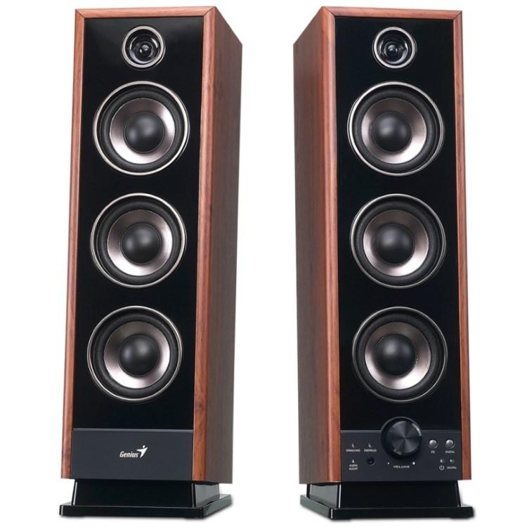 Reproduktory Genius SP-HF2020 V2 Reproduktory, 2.0, 60W, dřevěné, DSP, Sound EQ, digitální optický vstup 31731043100