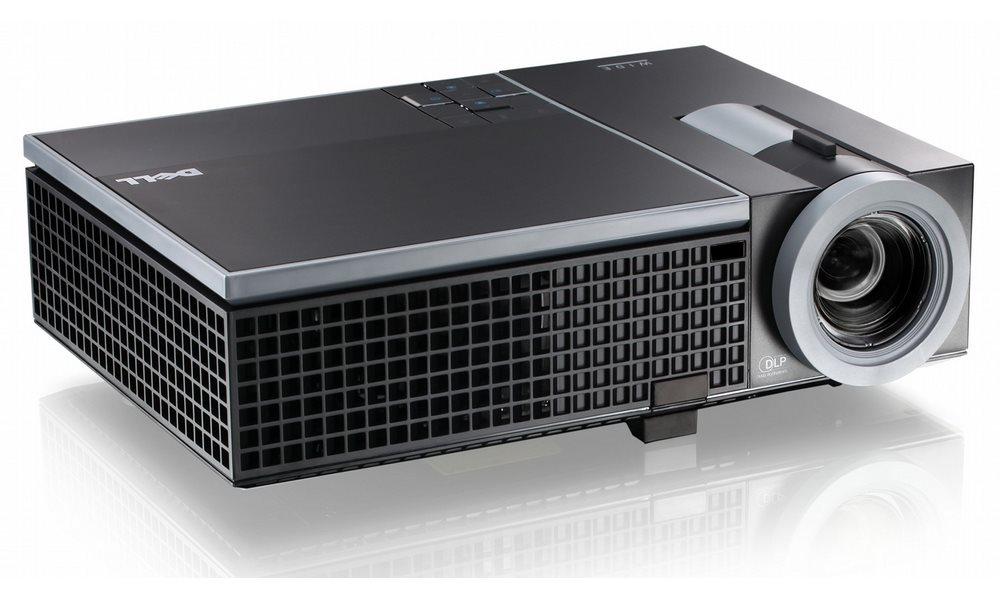Projektor DELL 1610HD Projektor, WXGA, DLP, 3500 ANSI, 2100:1, VGA, HDMI, černý, 2YNBD on-site 210-30974