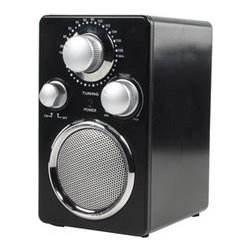 Rádio FM basicXL malé přenosné s konektorem aux-in, černé. BXL-TR40