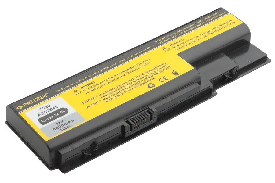 Baterie PATONA pro Acer 4400mAh Baterie, pro notebook, 4400mAh, Li-Ion, 14,8V, 8-článková, pro Acer Aspire, eMachines, TravelMate, Packard Bell