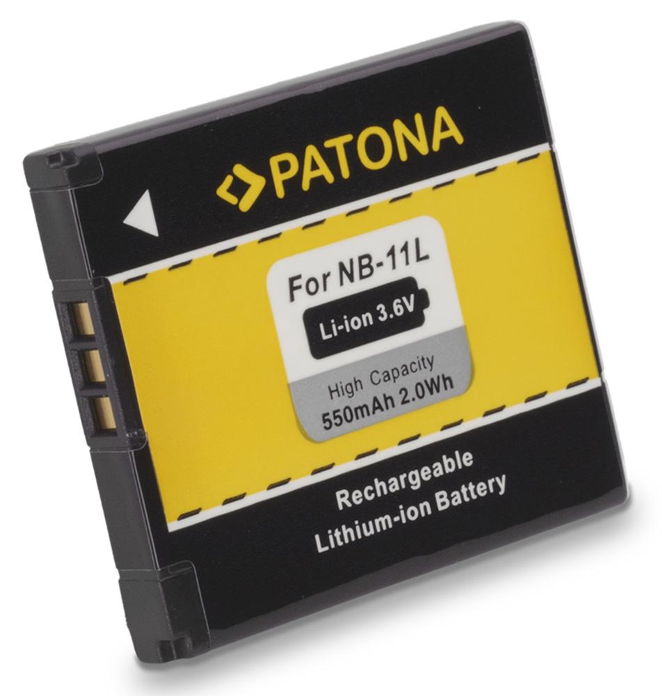 Baterie PATONA kompatibilní s Canon NB11L Baterie, pro fotoaparát, 550mAh, 3,6V, Li-Ion PT1108