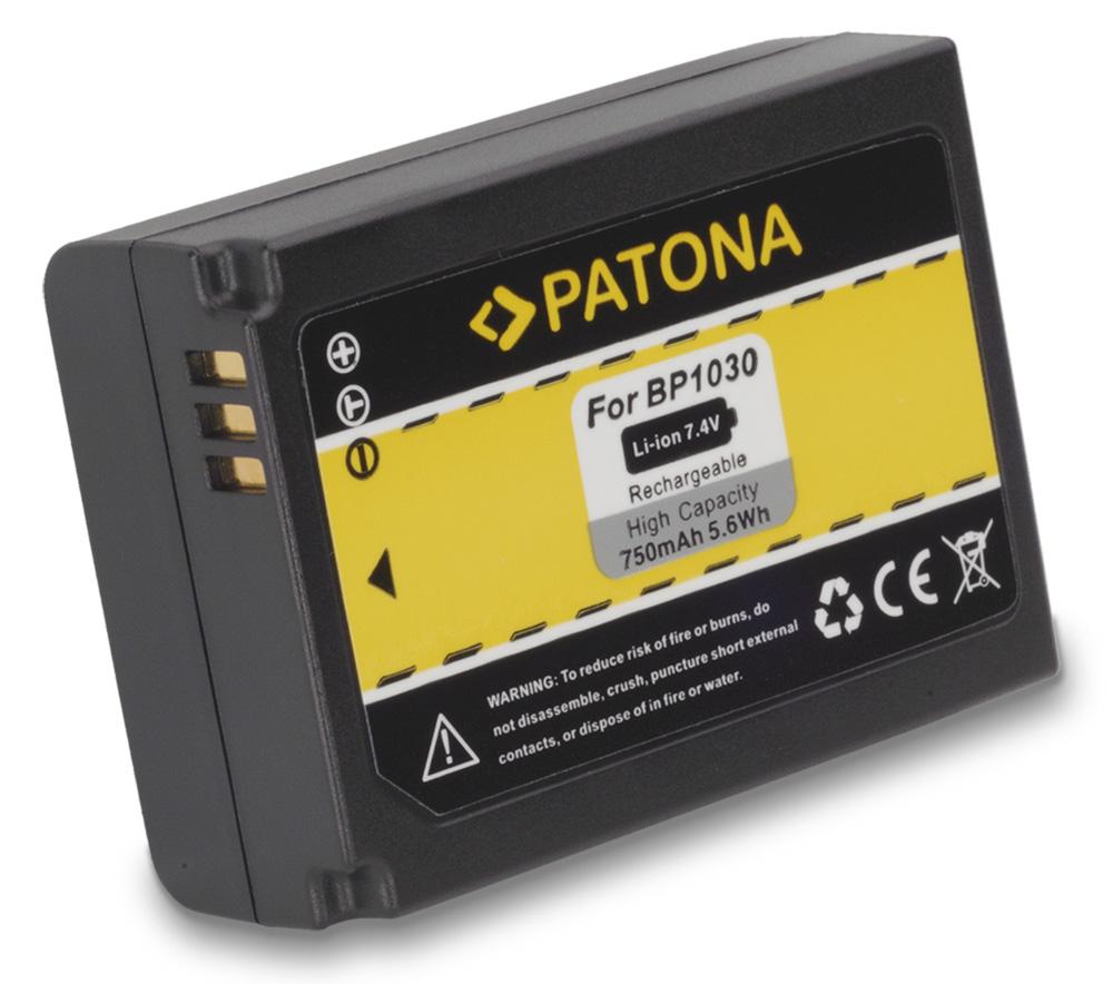 Baterie PATONA kompatibilní s Samsung BP1030 Baterie, pro fotoaparát, 750mAh, 7,4V, Li-Ion PT1110