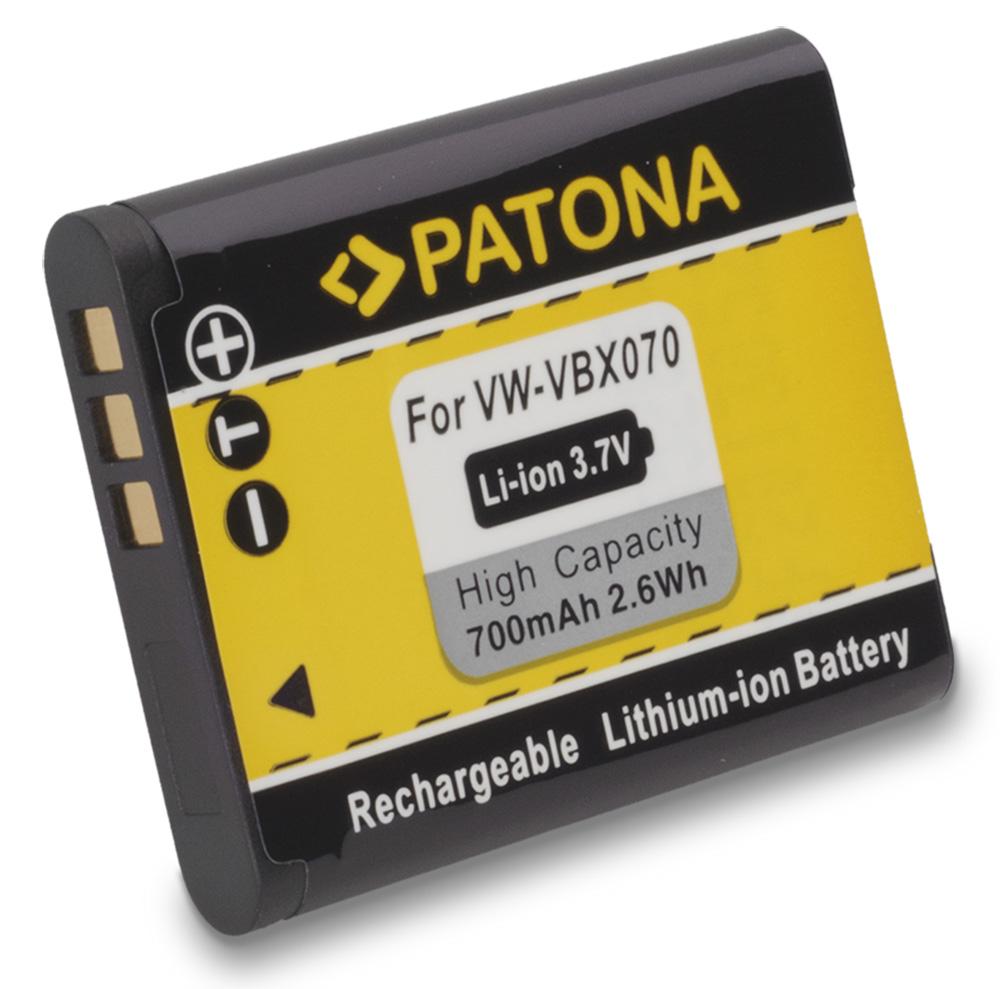 Baterie PATONA kompatibilní s Pentax D-Li88 Baterie, pro fotoaparát, 700mAh, 3,7V, Li-Ion PT1132