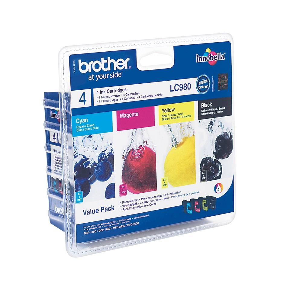 BROTHER inkoustová náplň LC-980 VALBP/ multipack/ Černá + tři barvy
