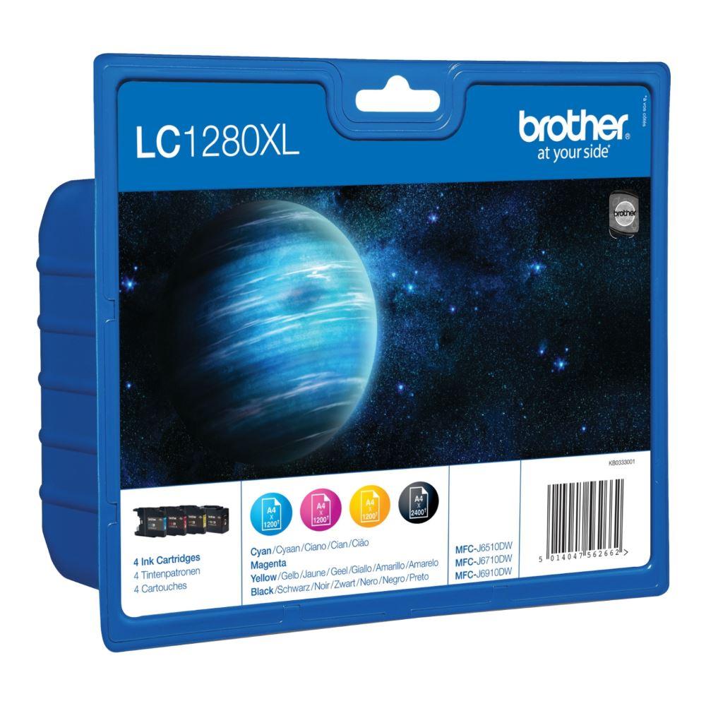 BROTHER inkoustová náplň LC-1280XLVALBP/ multipack/ Černá + tři barvy
