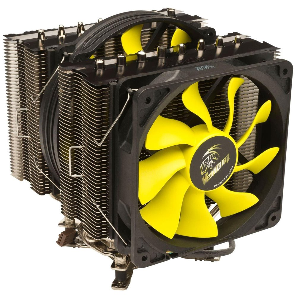Chladič AKASA VENOM MEDUSA Chladič, kompatibilní s LGA1366, LGA1156, LGA1155, LGA775,LGA2011, AMD AM3+, AM3, AM2+, AM2, FM1, 8xheatpipe AK-CC4010HP01