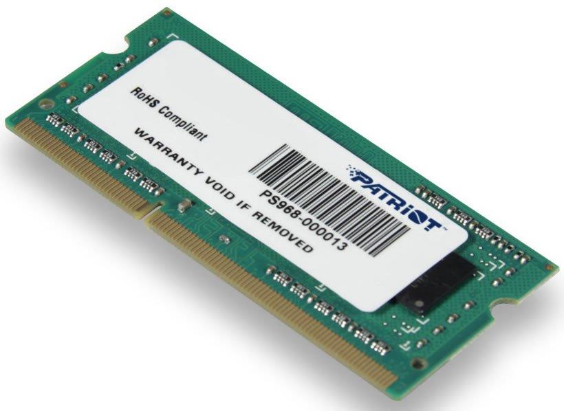 Operační paměť RAM Patriot 4 GB 1333 MHz Operační paměť, DDR3, 4 GB, EP PC3-10666 1333 MHz, CL9 PSD34G133381S