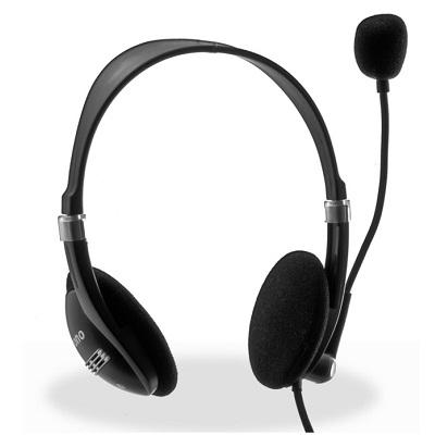 Headset CRONO HM-52B Headset, drátový, jack 3,5 mm, černá HM52B