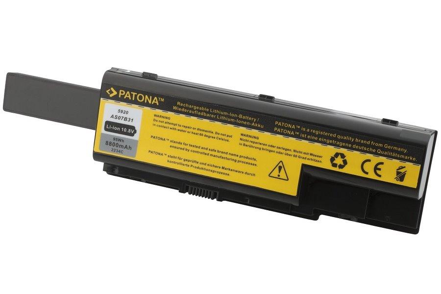 Baterie PATONA pro notebook ACER Baterie, 8800 mAh, pro notebooky ACER Aspire, eMachines, Extensa, TravelMate, Packard Bell, neoriginální PT2234