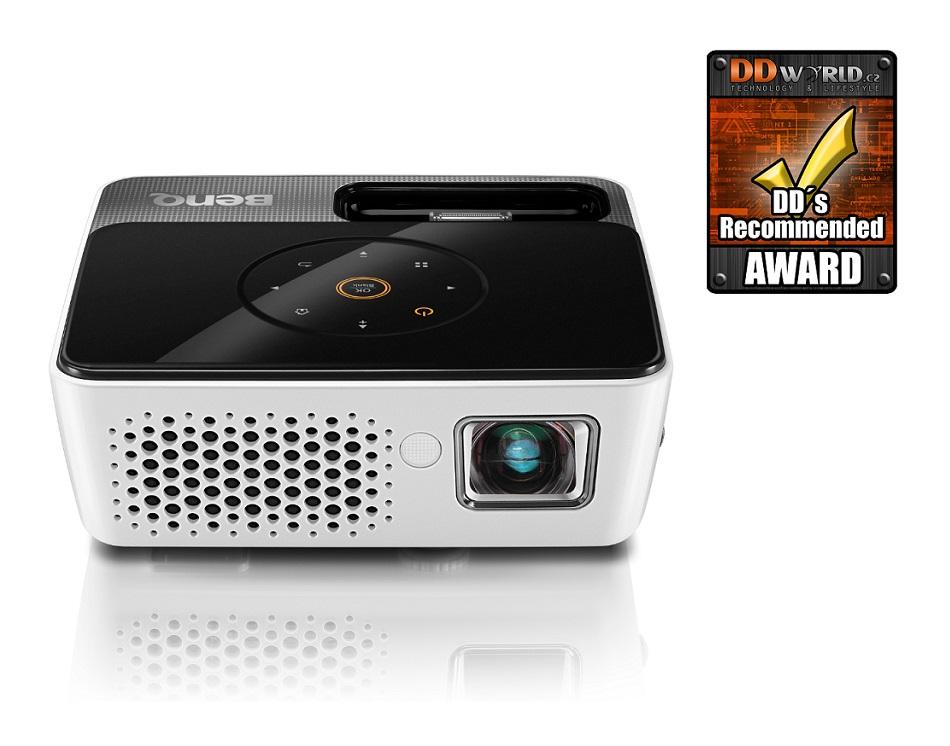 Projektor BenQ GP3 LED Projektor, mini, WXGA, DLP, 300 ANSI, HDMI, USB, iPhone a iPod docking 9H.J8H77.39E