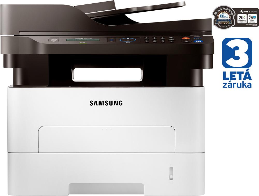 Multifunkční tiskárna SAMSUNG SL-M2675FN Černobílá multifunkční laserová tiskárna, A4, 26ppm, 4800 x 600 dpi, LCD, ADF, copy+scan+print+fax, Síť, USB, 3 roky záruka SL-M2675FN/SEE