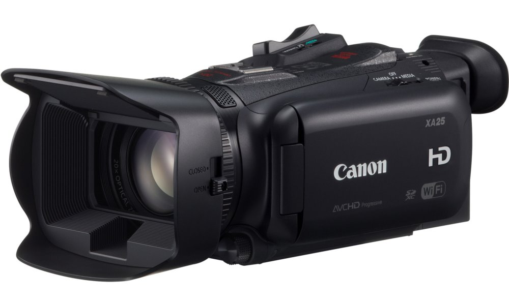 Videokamera Canon XA25 Videokamera, digitální, 20x zoom, Full HD, 3,5 LCD touch, 2,91 MPix, SDXC, SDHC, Wi-Fi, Černá 8443B010AA