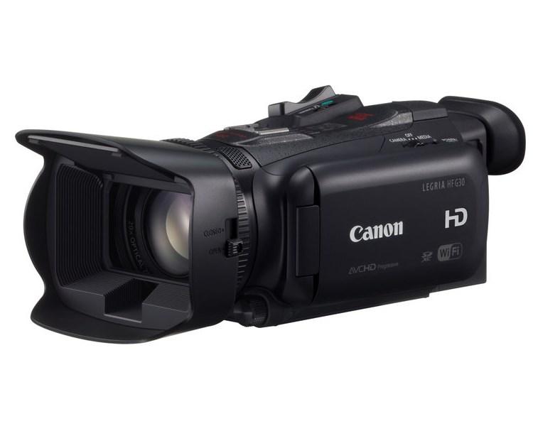 Videokamera Canon LEGRIA HF G30 Videokamera, digitální, 20x zoom, Full HD, 3,5 LCD Touch, SDHC, Wi-Fi, 2,91 MPix, Černá 8454B008AA