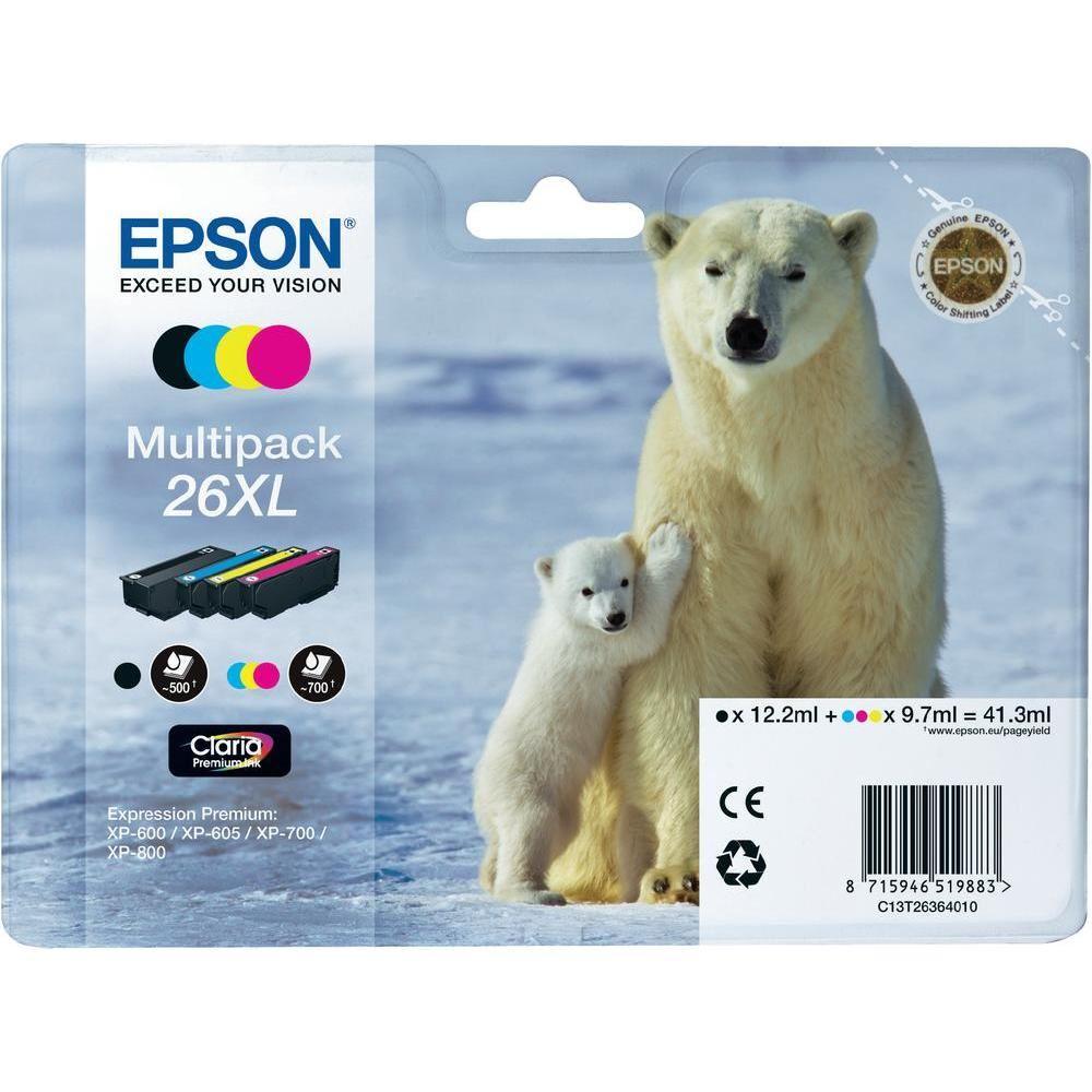 Cartridge inkoustová náplň Epson MULTIPACK, C13T26364010, XP-600, XL 4 barvy C13T26364010