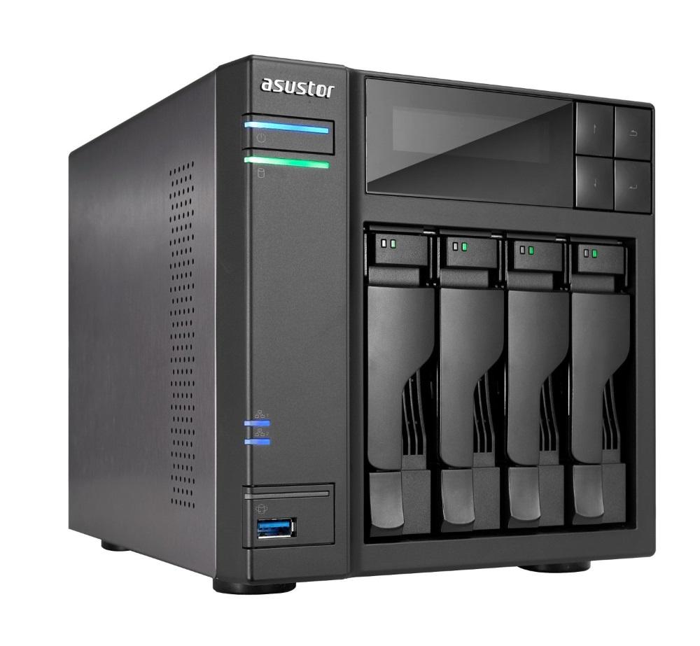 Síťové uložiště NAS Asustor AS-604T Síťové uložiště NAS, 4-bay NAS server, media station, Dual Core Atom 2,13GHz, 1GB DDR3, 2xUSB 3.0, 4xUSB 2.0, HDMI výstup AS604T