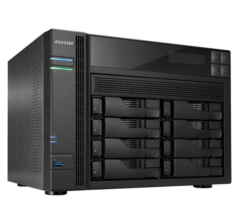 Síťové úložiště NAS Asustor AS-608T Síťové úložiště NAS, 8-bay NAS server, media station, Dual Core Atom 2,13GHz, 1GB DDR3, 2xUSB 3.0, 4xUSB 2.0, HDMI výstup AS608T