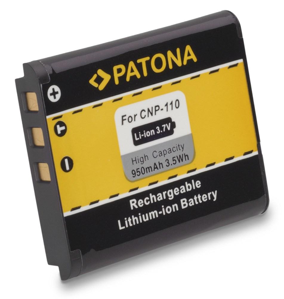 Baterie PATONA kompatibilní s Casio NP110 Baterie, pro fotoaparát, 950mAh, 3,7V, Li-Ion PT1157