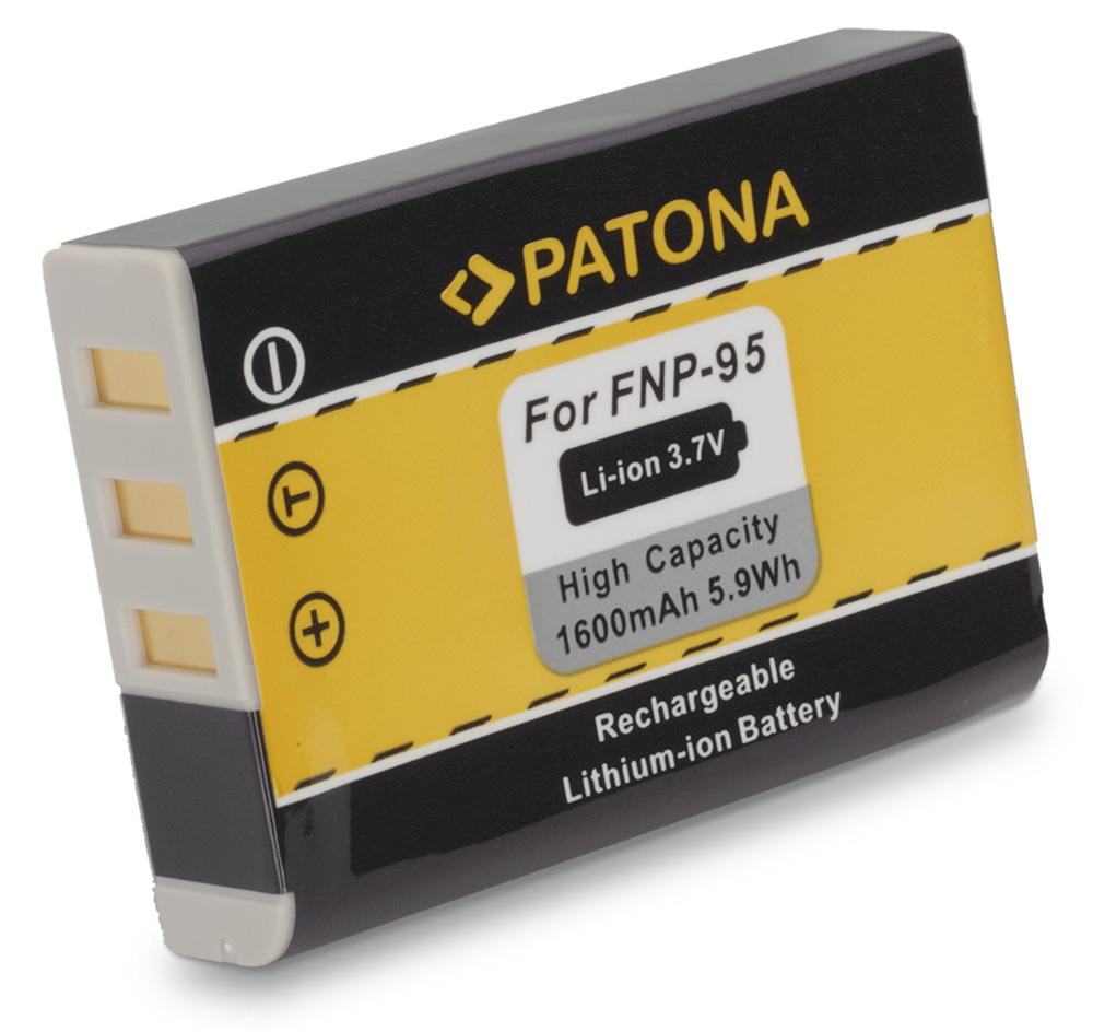 Baterie PATONA kompatibilní s Fuji NP-95 Baterie, pro fotoaparát, 1600mAh, 3,7V, Li-Ion PT1159