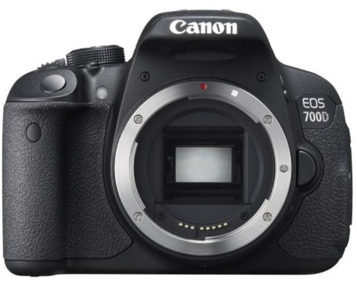 Digitální zrcadlovka Canon EOS 700D tělo Digitální zrcadlovka, 18MPix, 3 Touch LCD, FULL HD video, HDMI, Pouze tělo 8596B023AA