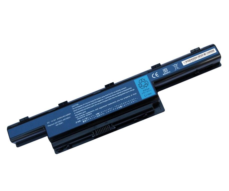 Baterie TRX pro Acer 4400 mAh Baterie, 4400 mAh, pro notebooky Acer Aspire 4551, 4738, 4741, 4551G, 4771G, 5551G, 5741G, 5750, 7251, AS10D3E, AS10D41, AS10D51, neoriginální TRX-AS10D31
