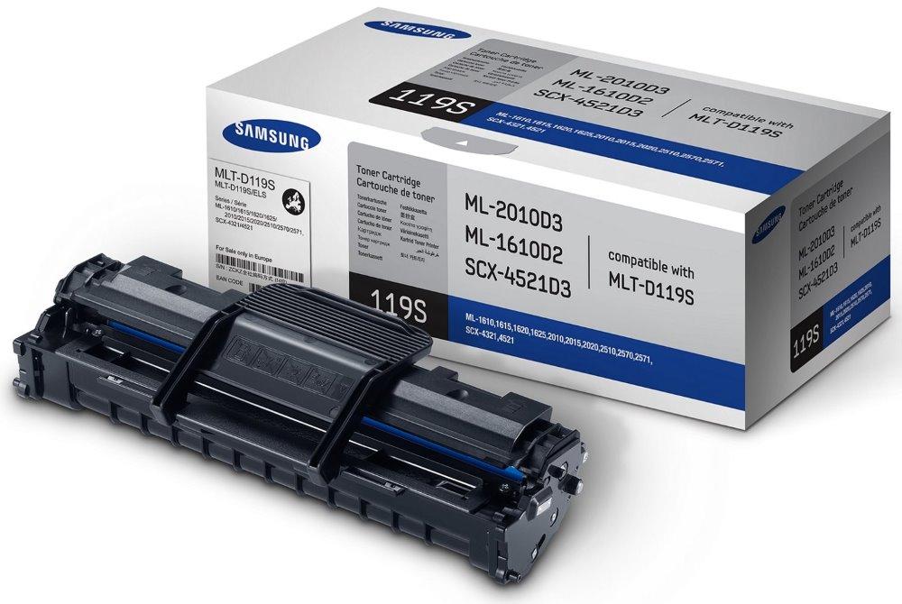 Toner SAMSUNG MLT-D119S černý Toner, pro SAMSUNG SCX-4321, 4521, ML-2010, 2510, 2570, 2000 stran, černý MLT-D119S/ELS