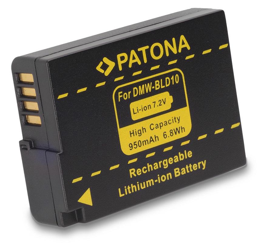 Baterie PATONA kompatibilní s Panasonic BLD10 Baterie, pro fotoaparát, 950mAh, Li-Ion PT1142