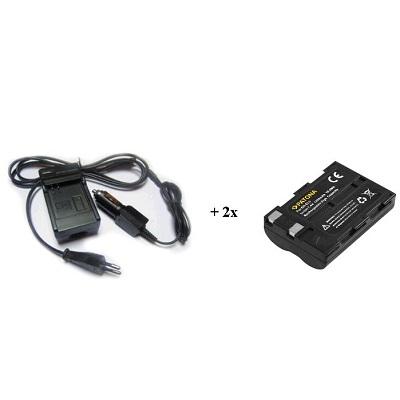 Nabíječka PATONA + 2 x baterie Nikon ENEL3 Nabíječka, pro fotoaparát, 2x baterie, 1400 mAh PT1533B