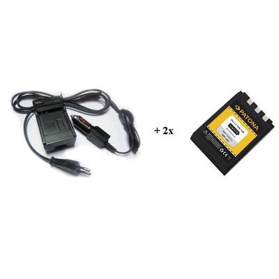 Nabíječka PATONA + 2 x baterie Olympus Li10B Li12B Nabíječka, pro fotoaparát, 2x baterie, 900 mAh PT1517B