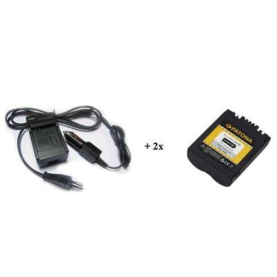 Nabíječka PATONA + 2 x baterie Panasonic CGA-S006E Nabíječka, pro fotoaparát, 2x baterie, 710 mAh PT1542B
