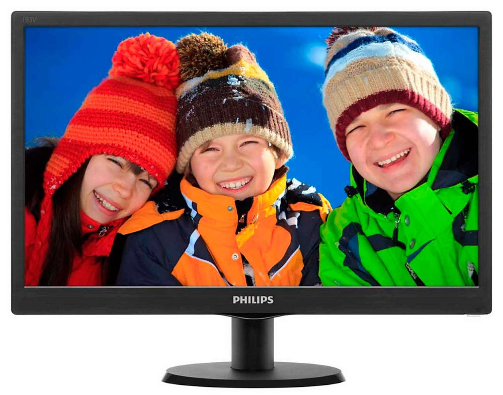 LED monitor PHILIPS 193V5LSB2 18,5 LED monitor, 18,5, 1366 x 768, 10.000.000:1, 5ms, D-SUB, černý 193V5LSB2/10