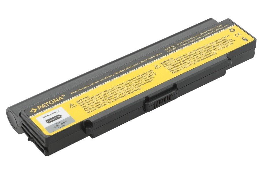 Baterie PATONA pro SONY 6600 mAh Baterie, 6600 mAh, pro notebooky SONY Vaio PCG, VGC, VGN, PT2059