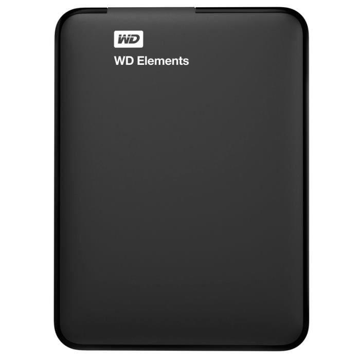Pevný disk WD 500 GB Elements Portable Pevný disk, externí, 2,5, USB 3.0, černý WDBUZG5000ABK-EESN